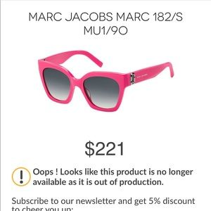 MARC Jacobs Pink Sunglass